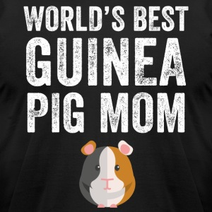world's best guinea pig mom - Men's T-Shirt by American Apparel