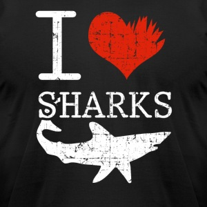 Shark Tee Shirt - Men's T-Shirt by American Apparel