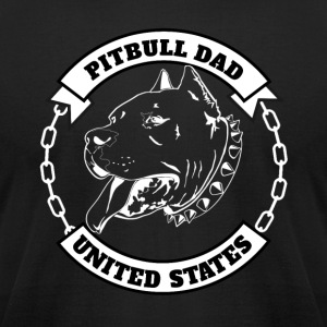 Pitbull Dad - Men's T-Shirt by American Apparel