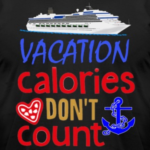 Vacation Calories Don't Count T-shirt - Men's T-Shirt by American Apparel