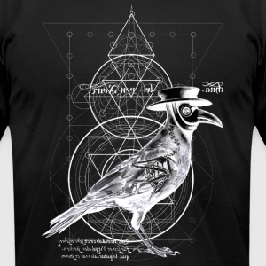 The Plague Raven - dark version - Men's T-Shirt by American Apparel