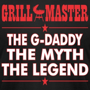 Grillmaster The Gdaddy The Myth The Legend BBQ - Men's T-Shirt by American Apparel