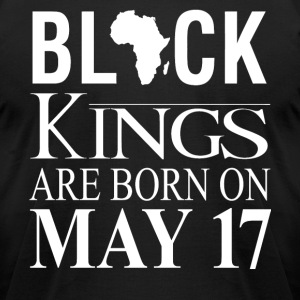 Black kings born on May 17 - Men's T-Shirt by American Apparel