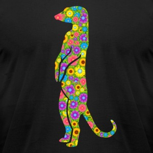 Meerkat Flower Shirt - Men's T-Shirt by American Apparel