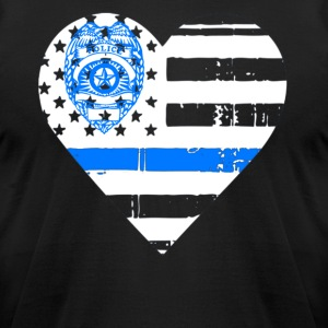 Police Thin Blue Line T shirts - Men's T-Shirt by American Apparel