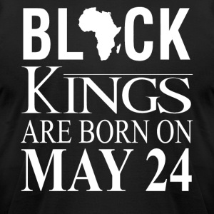 Black kings born on May 24 - Men's T-Shirt by American Apparel