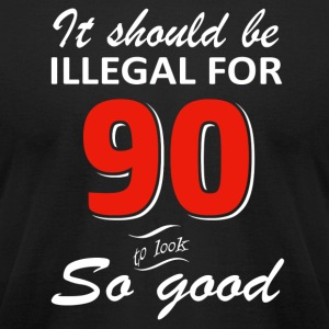 Funny 90th year old birthday designs - Men's T-Shirt by American Apparel