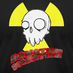 Radiation Vacation 01 - Men's T-Shirt by American Apparel