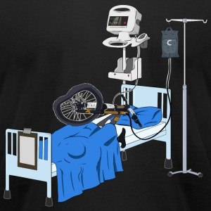 Hospitalised Downhill Bike - Men's T-Shirt by American Apparel