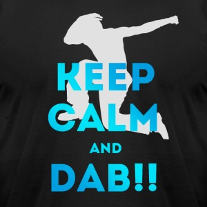 dab keep calm dabbing football touchdown dance lol - Men's T-Shirt by American Apparel