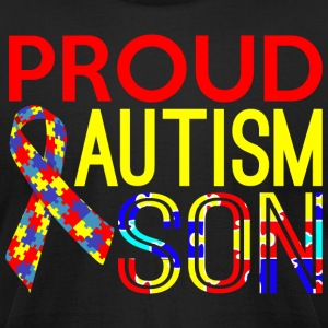 Proud Autism Son Awareness - Men's T-Shirt by American Apparel