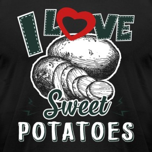 I Love Sweet Potatoes Shirt - Men's T-Shirt by American Apparel