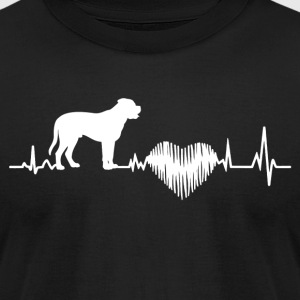 Bullmastiff Heartbeat Shirt - Men's T-Shirt by American Apparel
