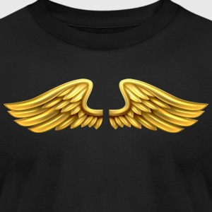 golden-angel-wings-angelic-wings - Men's T-Shirt by American Apparel