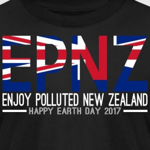 EPNZ Enjoy Polluted New Zealand Happy Earth Day - Men's T-Shirt by American Apparel