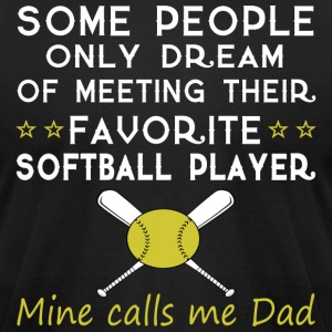 SOFTBALL DAD - Men's T-Shirt by American Apparel