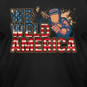 WE WELD AMERICA T SHIRT - Men's T-Shirt by American Apparel