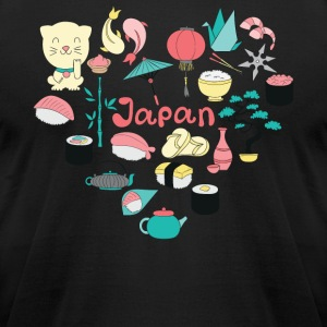 I Love Japan - Men's T-Shirt by American Apparel