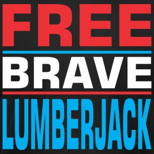 Free Brave Lumberjack - Men's T-Shirt by American Apparel