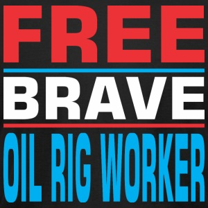 Free Brave Oil Rig Worker - Men's T-Shirt by American Apparel
