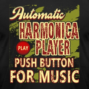 PUSH BUTTON FOR HARMONICA MUSIC SHIRT - Men's T-Shirt by American Apparel
