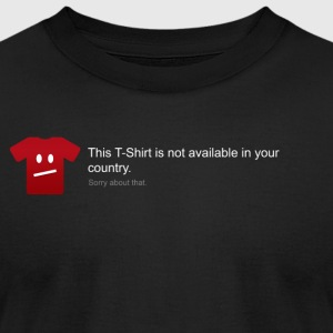 This T-Shirt is not available in your country - Men's T-Shirt by American Apparel