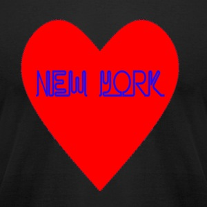 New York Heart - Men's T-Shirt by American Apparel