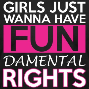 Girls Just Wanna Have Fun Damental Rights - Men's T-Shirt by American Apparel