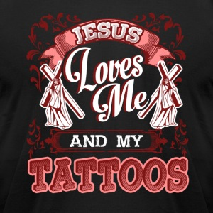 JESUS LOVES ME SHIRT - Men's T-Shirt by American Apparel