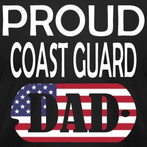 Proud Coast Guard Dad - Men's T-Shirt by American Apparel