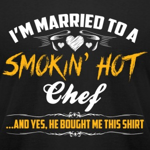 chef married - Men's T-Shirt by American Apparel