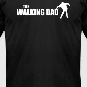 The DAD WALKING - Men's T-Shirt by American Apparel