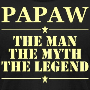 Papaw The Man The Myth The Legend - Men's T-Shirt by American Apparel