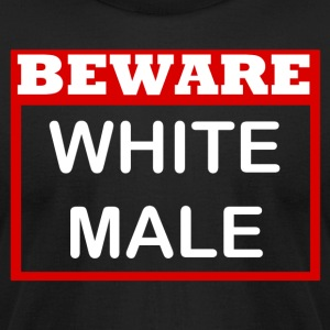 WHITE MALE SHIRT - Men's T-Shirt by American Apparel