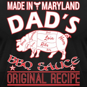 Made In Maryland Dads BBQ Sauce Original Recipe - Men's T-Shirt by American Apparel