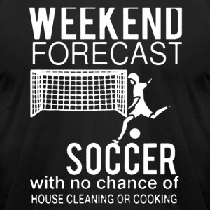 WEEKEND FORECAST SOCCER SHIRT - Men's T-Shirt by American Apparel