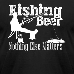 FISHING BEER SHIRT - Men's T-Shirt by American Apparel