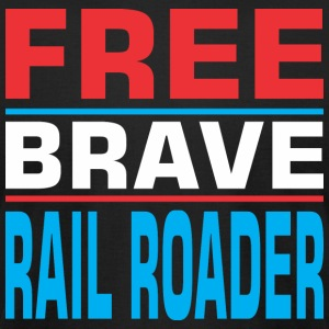 Free Brave Rail Roader - Men's T-Shirt by American Apparel
