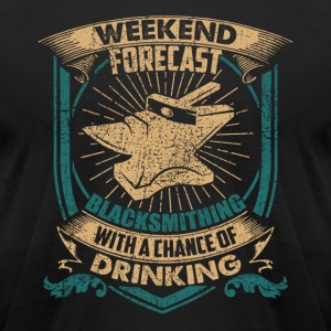 Blacksmithing With A Chance Of Drinking Shirt - Men's T-Shirt by American Apparel
