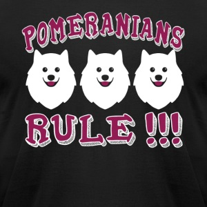 Pomeranians Rule Shirt - Men's T-Shirt by American Apparel