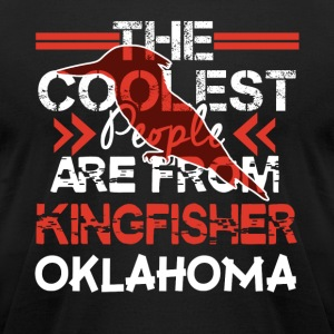 COOLEST KINGFISHER SHIRT - Men's T-Shirt by American Apparel