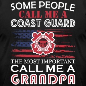 Some People Coast Guard Most Important Grandpa - Men's T-Shirt by American Apparel