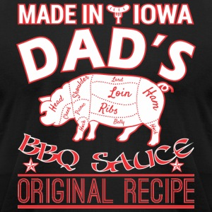 Made In Iowa Dads BBQ Sauce Original Recipe - Men's T-Shirt by American Apparel