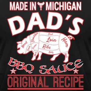 Made In Michigan Dads BBQ Sauce Original Recipe - Men's T-Shirt by American Apparel