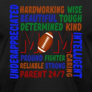 WHAT IS A RUGBY MOM SHIRT - Men's T-Shirt by American Apparel