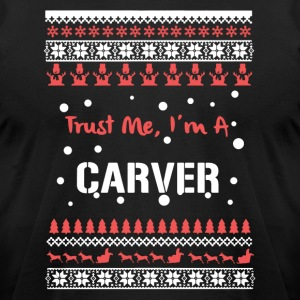 Carver Christmas Shirt - Men's T-Shirt by American Apparel