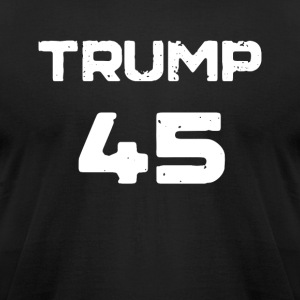 Donald Trump T-Shirt: Trump 45 President - Men's T-Shirt by American Apparel