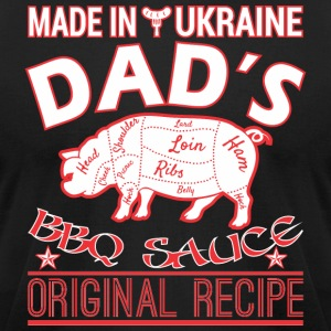 Made In Ukraine Dads BBQ Sauce Original Recipe - Men's T-Shirt by American Apparel