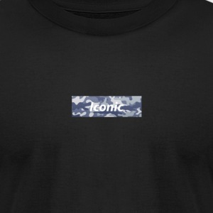 Iconic Camo Box Logo - Men's T-Shirt by American Apparel