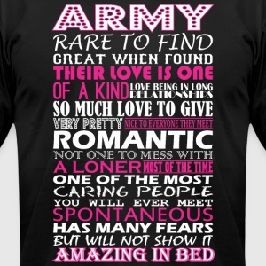 Army Rare To Find Romantic Amazing To Bed - Men's T-Shirt by American Apparel